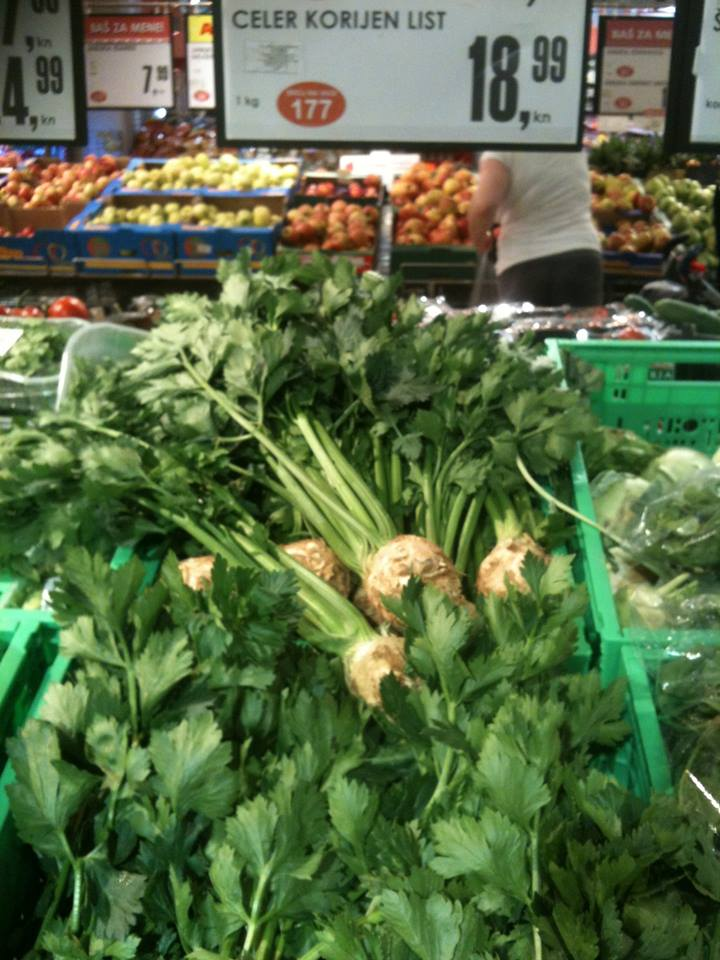 Celer, korijen i list-lasan